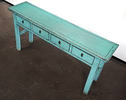 Turquoise Entry Table by Turquoise Console Entry Hallway Sofa Table With Drawers Altar