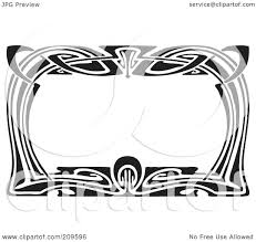 printable art deco borders royalty free rf clipart illustration of a retro black and white