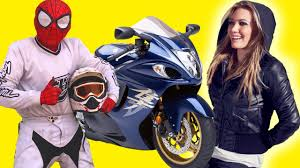 yamaha motocross helmet spiderman bought motorcycle in store and started race motocross on