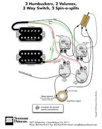 seymour duncan wiring diagram 2 humbuckers 2 vol 3 way 2 spin