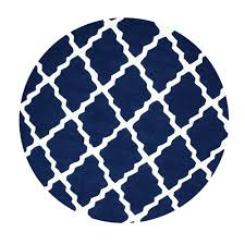 Navy Area Rugs Nuloom Trellis Navy Blue 6 Ft X 6 Ft Round Area Rug Mtvs27d 606r