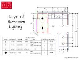 Bathroom Lighting Layout Stunning 10 Bathroom Lighting Plan Decorating Design Of Tips To