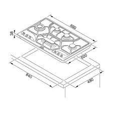 dimensioni piano cottura 5 fuochi poc 6 wh 3ga franke piano cottura da 90 cm 6800041 106 0155 592 5