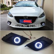 2016 mazda 3 fog light kit free shipping fit mazda 3 axela 2014 2016 led daytime running
