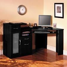 Black Ash Computer Desk Furniture Contemporary Minimalist Black Corner Desk With 3 Legs