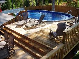 above ground pool decks expensive outdoor decorations