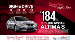 nissan altima 2016 lease deals 184 mo altima u0026 254 mo rogue at conicelli nissan in