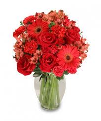 florist orlando charismatic crimson floral arrangement in orlando fl mitchell s
