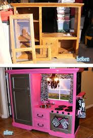 play kitchen from furniture upcycle us furniture upcycled into kitchen arts and crafts