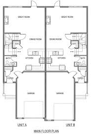 Duplex Blueprints 100 Simple Duplex Plans Plans Small Duplex House Plans