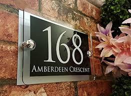 glass door number signs top 10 house number plaques