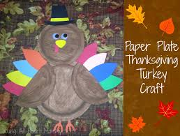 paper plate thanksgiving turkey craft at
