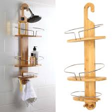 3 Tier Bathroom Stand by 3 Tier Bamboo Multifunctional Sturdy Corner Bathroom Shelves