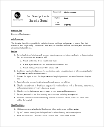 Resume Examples For Security Guard by Safety Director Job Description Dietary Aide Server Job