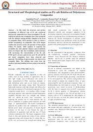 structural and morphological studies on fly ash reinforced polystyren u2026