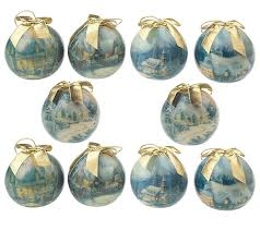 kinkade set of 10 ornaments qvc