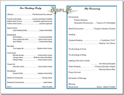 Wedding Bulletin Wedding Program Templates From Thinkwedding U0027s Print Your Own