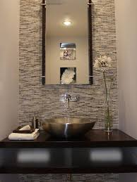 Home Decor Small Stainless Steel Sink Frosted Glass Bathroom Powder Room Featuring Erin Adams Glass Mosaic Tile On Wall From