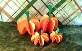 pumpkin decoration images how to make a paper pumpkin decorations or centerpiece youtube