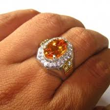 model2 cincin promo 5 cincin pria bahan perak dengan batu mulia asli