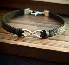 leather bracelet girl images Leather bracelet handmade silver infinity black leather bracelet jpg