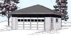 22x22 2 Car 2 Door Detached Garage Plans by Ezgarage Building Affordable Dreams Shipping From Our Maine