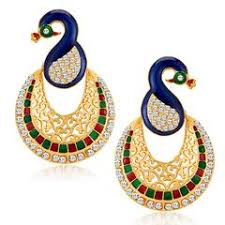 peacock design earrings peacock earrings buy ethnic earring of peacock designs online