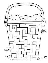 maze coloring part 9 seasons pinterest maze and