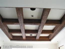 What Is A Coffered Ceiling by Exposed Wood Beams Made Easy Faux Wood Workshop