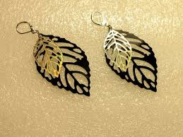 cd earrings inventorartist leaf earrings vinyl and cd