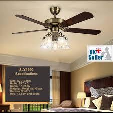 5 light ceiling fan 52 ceiling fan light bronze 5 glass light 5 wood blade remote