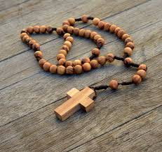olive wood rosary christian amulets olive wood rosary and cross necklace