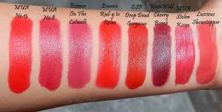 Shades Of Red Color Sixteen Shades Of Red Our Collection The Pout Painters