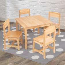 american kids 5 piece wood table and chair set kidkraft farmhouse kids 5 piece square table and chair set within