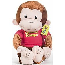 amazon curious george monkey plush doll toy 21 inches toys