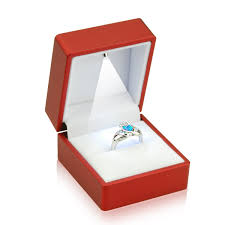 wedding rings in box geff house engagement jewelry ring box with led light