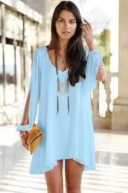 light blue long sleeve dress light blue v neck chiffon shift dress club dresses leopard dress