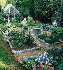 Gardening Layout Handsome Veggie Garden Layout Complete With Above Ground Koi Pond