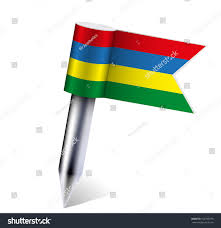 Mauritius Flag Vector Mauritius Flag Isolated On White Stock Vector 102790193