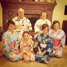 photoshoot with my half japanese family in traditional yukatas for