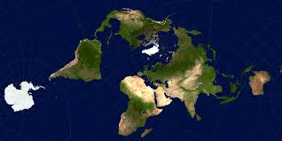 Peters Projection Map What Four Commonly Used Projections Do As Shown On A Human Head