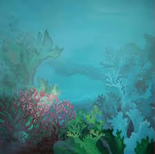 kid s rooms deepwalls underwater scene before adding fish underwater fish mural
