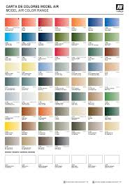 model paint color chart ideas vallejo model air game color chart