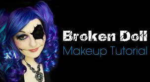 broken doll halloween makeup tutorial youtube
