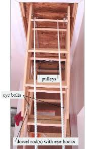 drop down attic ladder installation loft and folding stairs drop