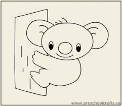 koala coloring pages preschool preschool kindergarten
