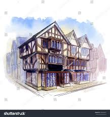 history british architectural styles tudor architecture stock