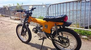 custom honda nyc stolen yellow custom honda ct70 u2014 moped army