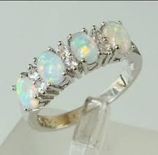 size 9 ring in uk size 9 r1 2 925 sterling silver 4 white opal zircon