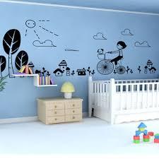 stickers animaux chambre bébé diy scrawl équitation vélo chien arbre vinyle wall sticker